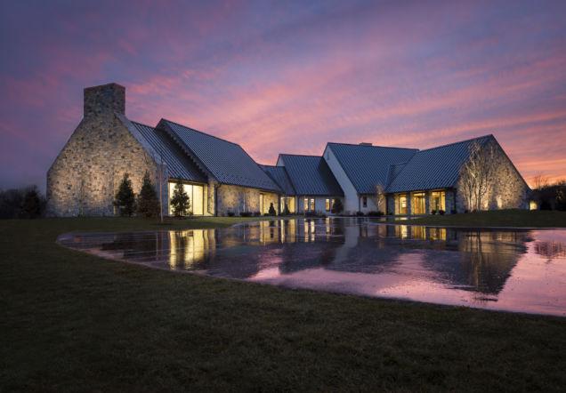 RLPS building at dusk