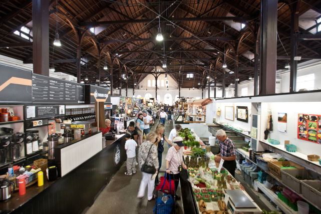 Shopping in renovated Lancaster Central Market