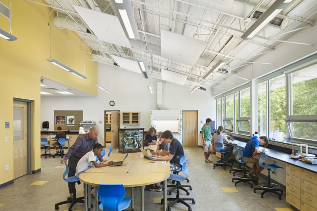 Work Area in Westtown School Science Building Lab