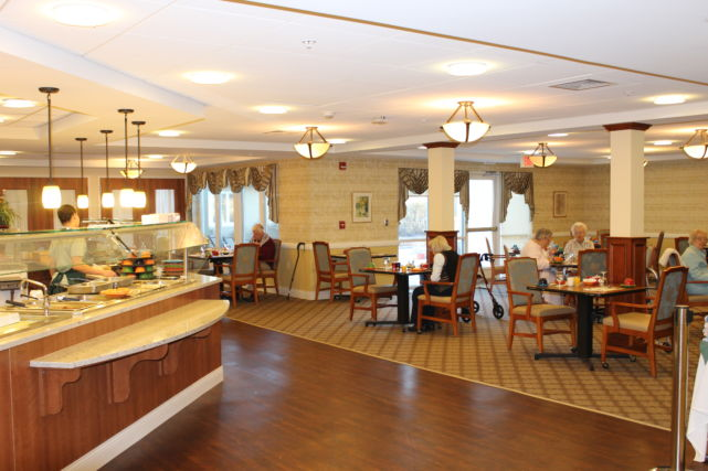 Kendal Health Center Dining Area