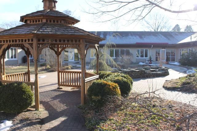Kendal Health Center Outdoor Gathering Area and Gazebo