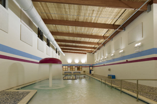 Expanded kids pool at the ymca