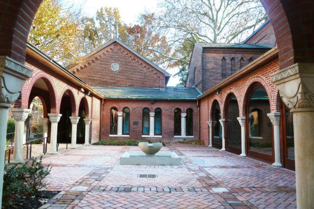 Historic Church Renovated Courtyard