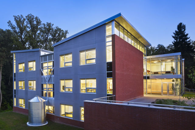 Westtown School Science Building dusk