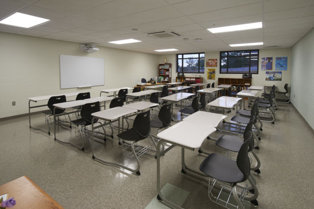 St. Leo the Great Catholic School renovated classroom
