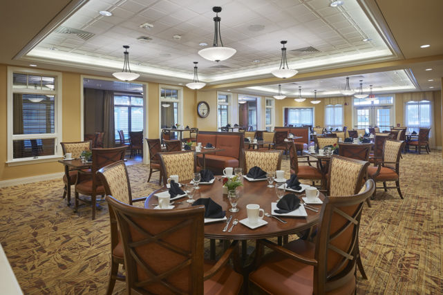 SpiriTrust Lutheran dining room