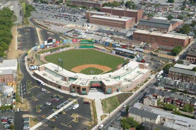 Lancaster Clipper Baseball Stadium Aerial View
