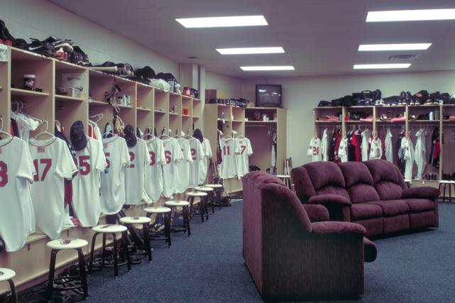 Lancaster Barnstormers locker room