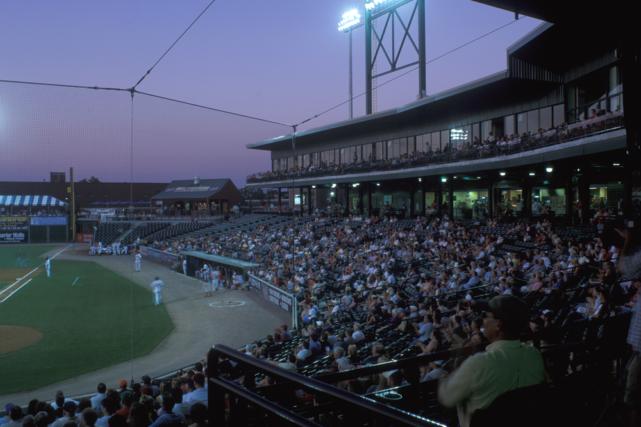 Lancaster Barnstormers baseball night game