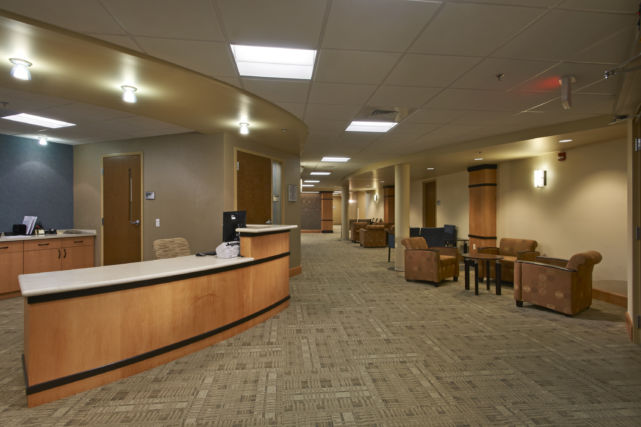 LG Health Hart Group Medical Reception Area
