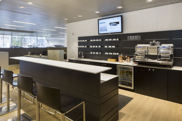 Newly constructed Audi showroom cafe