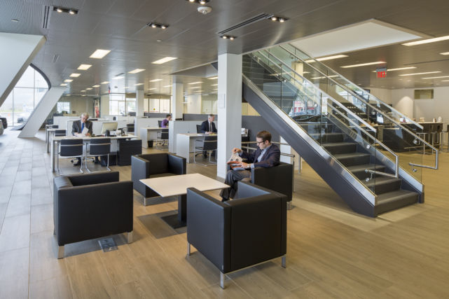 Audi Dealership Lobby and Waiting Area