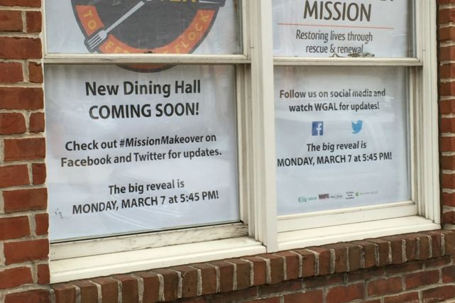 Water Street Mission Renovation Signs