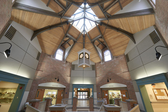 Skylights and details in new retirement community bistro