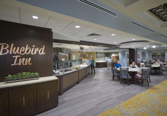 Bluebird Inn and Cafe Area